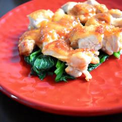生姜香る、鶏肉の甘味噌焼き