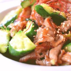 豚バラ肉ときゅうりの中華風コク旨炒め