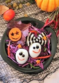 ハロウィン★かわいいたまごおばけのサラダ