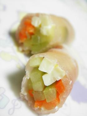 くるっ♬♫生ハムde野菜巻き~サラダ♥