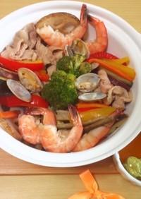 キスマイ横尾くん風たっぷり野菜彩り蒸し鍋