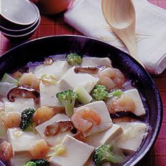 豆腐とえびの炒め煮
