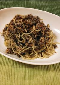 【発毛レシピ】鯖とゆかりのスパゲッティ