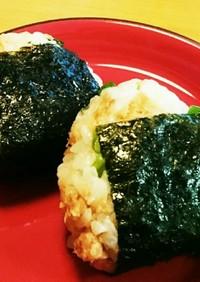 米油で鮭フレークのオイルおにぎり