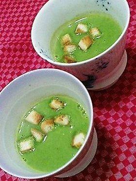 クリスマススープ?(ほうれん草と里芋)