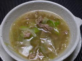 豚肉とザーサイのスープ
