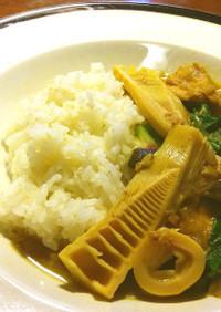 新蕎麦の蕎麦湯のリメイク 和風カレー