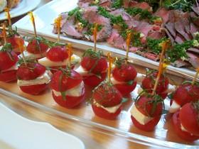 パーティーにぴったり!トマトのカプレーゼ