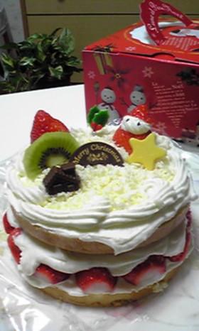 簡単ホワイト☆クリスマスCAKE *゚✲