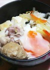 鶏塩ダレ鍋でフォーを入れお腹いっぱい鍋。