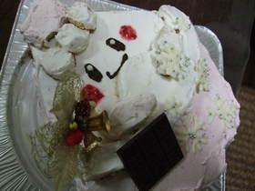 ピンプクのクリスマスケーキ