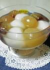 白玉とぶどうの簡単デザート