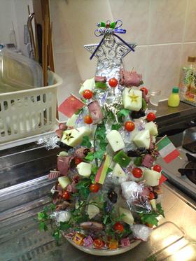 おつまみクリスマスツリー