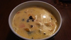 豆乳と野菜のスープ