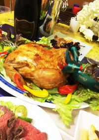 丸鶏ローストチキンをジューシーに焼く方法