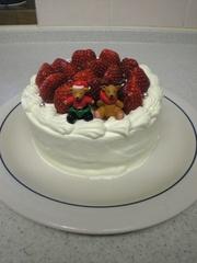 シンプルなクリスマスケーキの写真