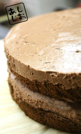 贅沢な素敵♪チョコ生ケーキ