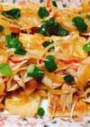 【香り箱】焼き油揚げの中華風カニカマのせ