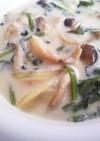 簡単!鶏肉ときのこと野菜の豆乳スープ