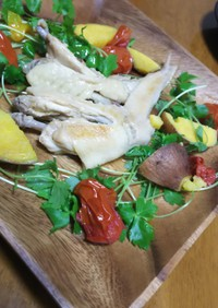 鶏とサツマイモのしっとり炊飯器煮