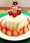 1歳のクリスマスケーキ☆ミルクレープ