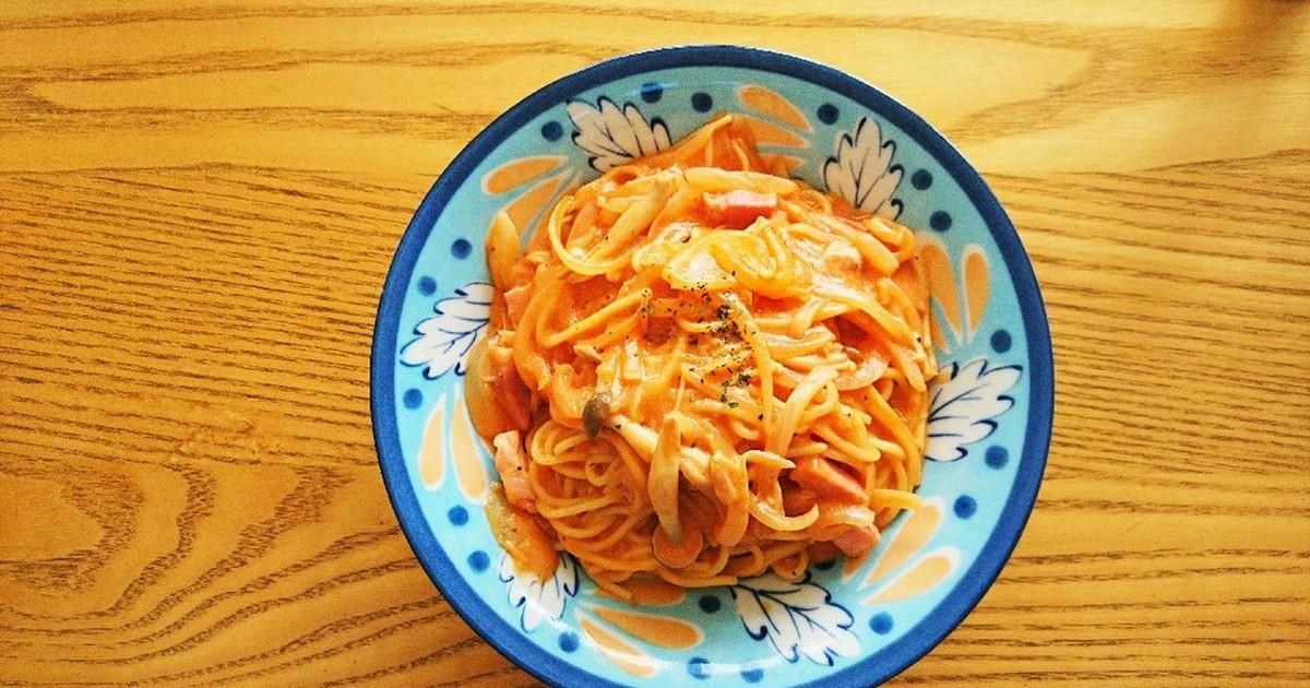 トマトジュースのクリームパスタ レシピ 作り方 By 大豆ーk クックパッド