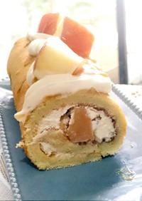 キャラメルりんごロールケーキ