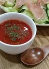 レンジ♪トマトジュースでトマトスープ。