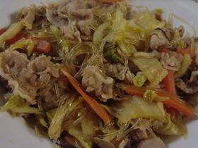 春雨と野菜と肉の炒め煮○ご飯とよく合う!