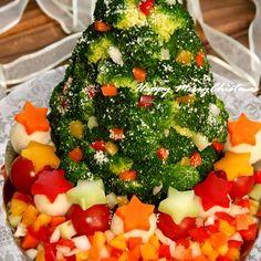 カラフルな☆クリスマスツリーサラダ☆♪