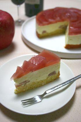 赤ワイン林檎のババロアケーキ♪