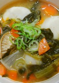 温か具沢山♡小松菜と根菜 里芋のお味噌汁