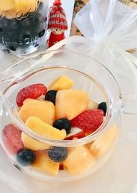 お手軽な冷凍果実を使ったフルーツティー