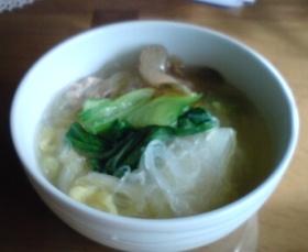 白菜と鶏のスープ