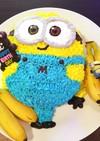 簡単♡ミニオンズ♡ボブの立体ケーキ