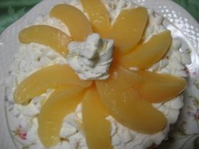 白桃缶のケーキ