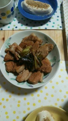 豚モモかたまりで簡単煮ブタ