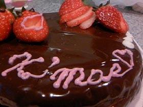 チョコ好きのクリスマスチョコレートケーキ