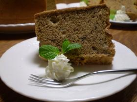 紅茶(アールグレイ)のシフォンケーキ