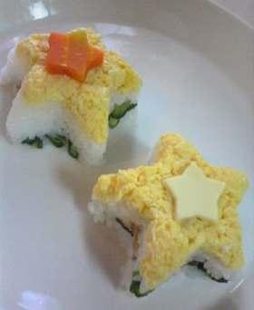 お星様食べよ☆簡単押し寿司