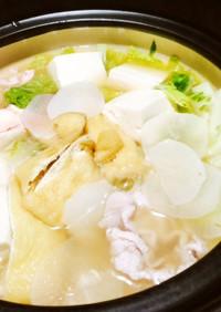 豚肉と白菜油揚げのさっぱり濃く旨鍋