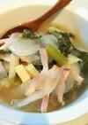 大根と小松菜の生姜スープ