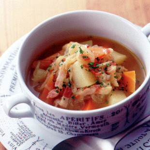 野菜たっぷりカレースープ
