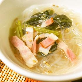 簡単!節約、ダイエット◎中華風春雨スープ