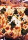 イギリスパンの納豆チーズトースト