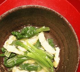 割烹の小松菜の煮びたし