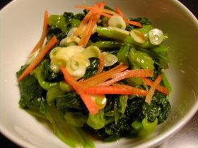 栄養満点、小松菜を食べよう