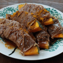 かぼちゃの牛肉巻き