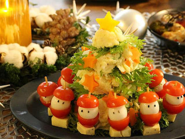 クリスマスに ポテトサラダのツリー