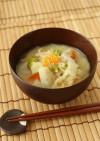 切干大根と根菜の白味噌汁